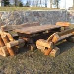 Laud (220x85cm) ja pingid