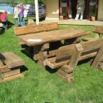 Laud (160x80cm) ja pingid